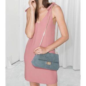 & Other Stories Pink Tied Shoulder Dress